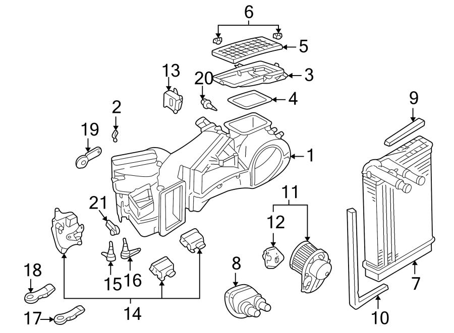 2005 Volkswagen Passat Wagon 2.8L V6 A/T FWD Adjust motor