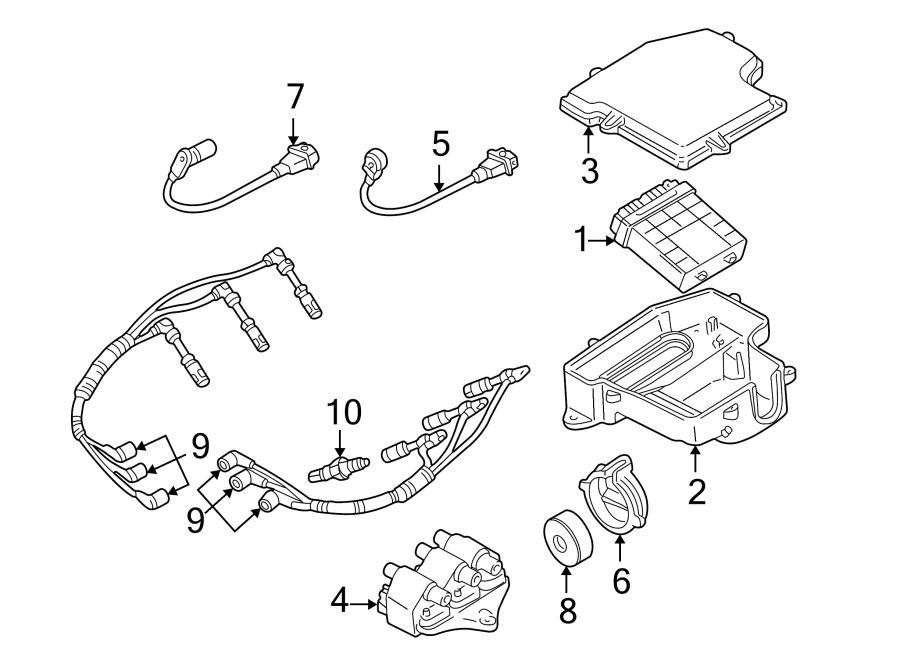 2005 Volkswagen Passat Spark Plug Wire. Liter, IGNITION