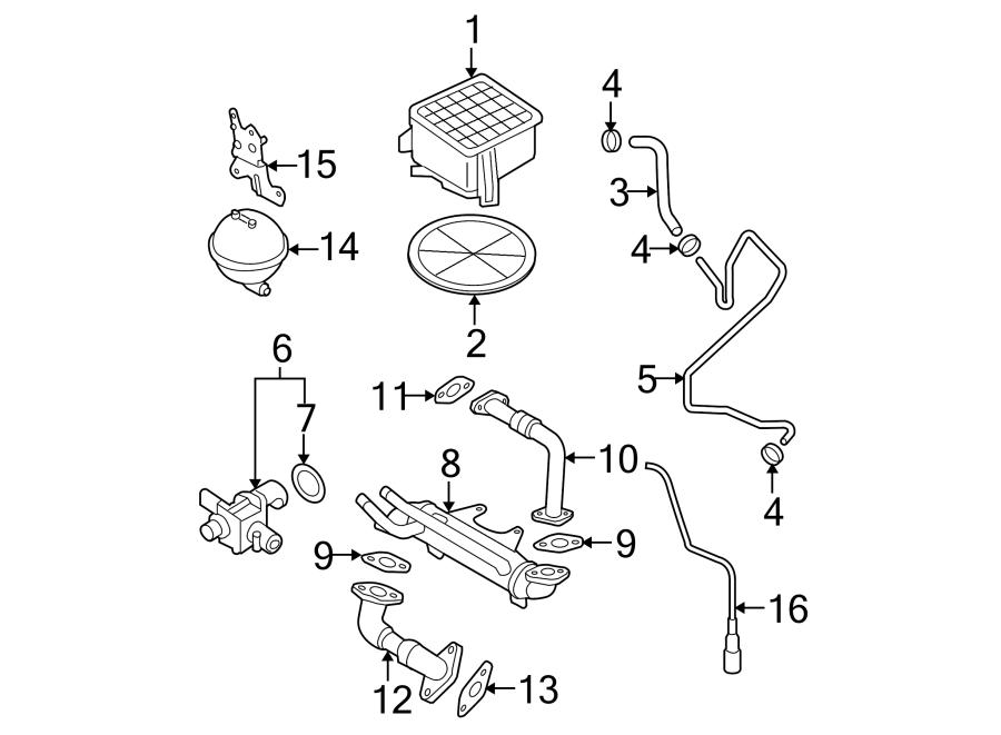 2005 Volkswagen Passat Vacuum reservoir bracket. 2.0 LITER