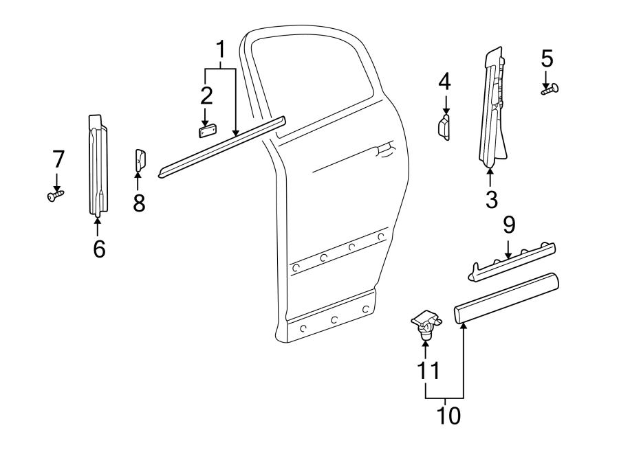 2002 Volkswagen Passat Wagon Clip. Molding. Rocker