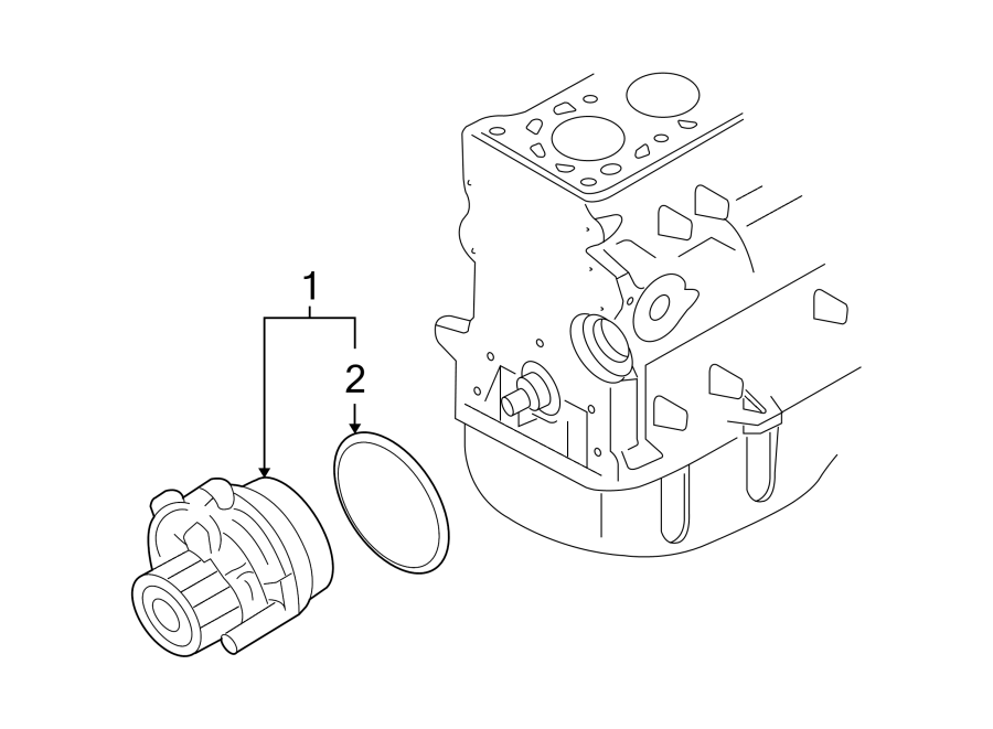 2007 Volkswagen Passat Wagon Engine Water Pump Assembly