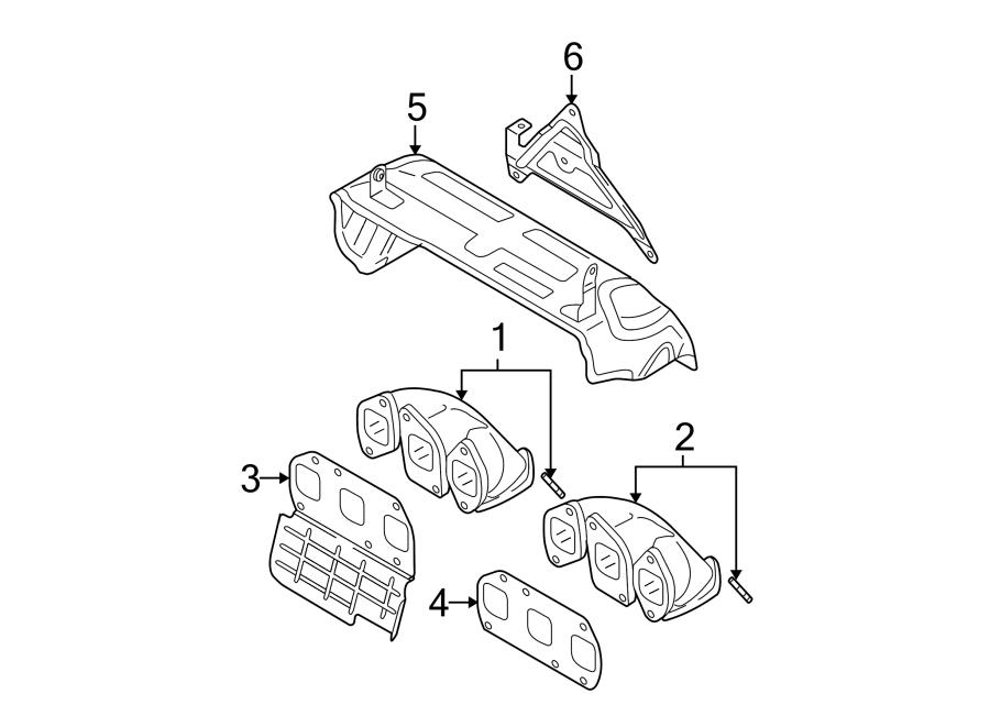 2007 Volkswagen Passat Wagon Exhaust Manifold Gasket