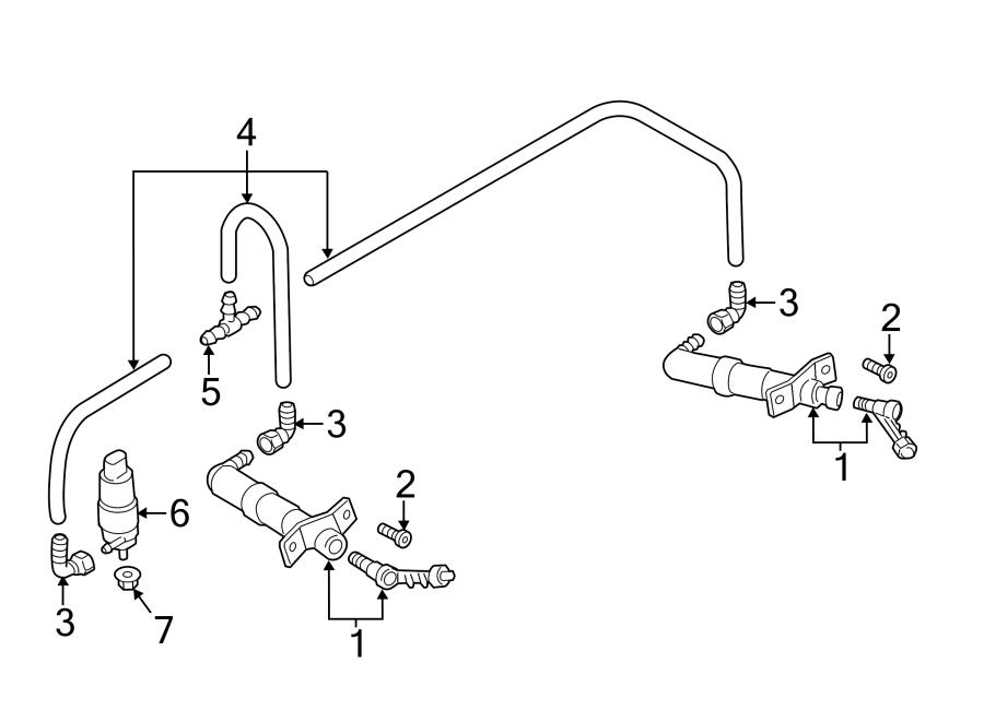 2015 Volkswagen CC Headlight Washer Pump. WINDSHIELD