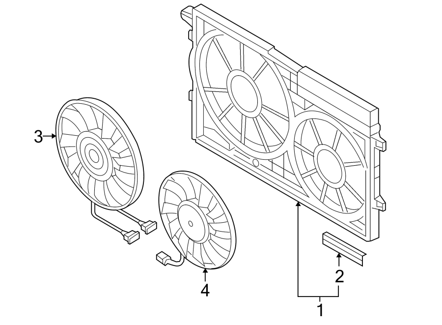 2012 Volkswagen Passat TDI SEL Engine Cooling Fan Shroud