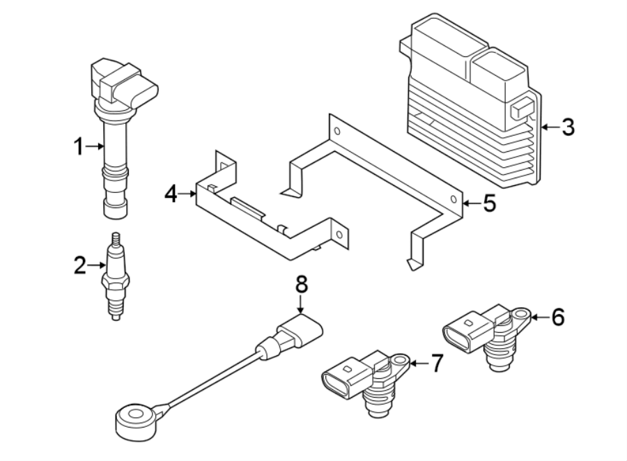 2014 Volkswagen Passat Ignition Knock (Detonation) Sensor