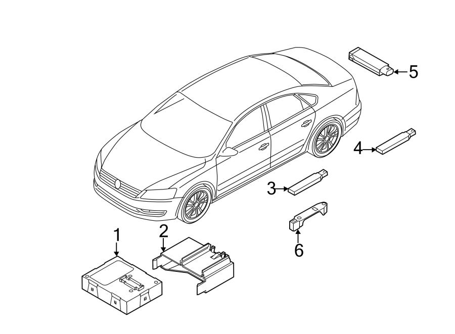 Volkswagen Passat Contour. Unit. Control module. W/trunk