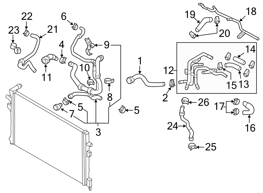 2015 Volkswagen Passat Engine Coolant Pipe. Hose AND tube