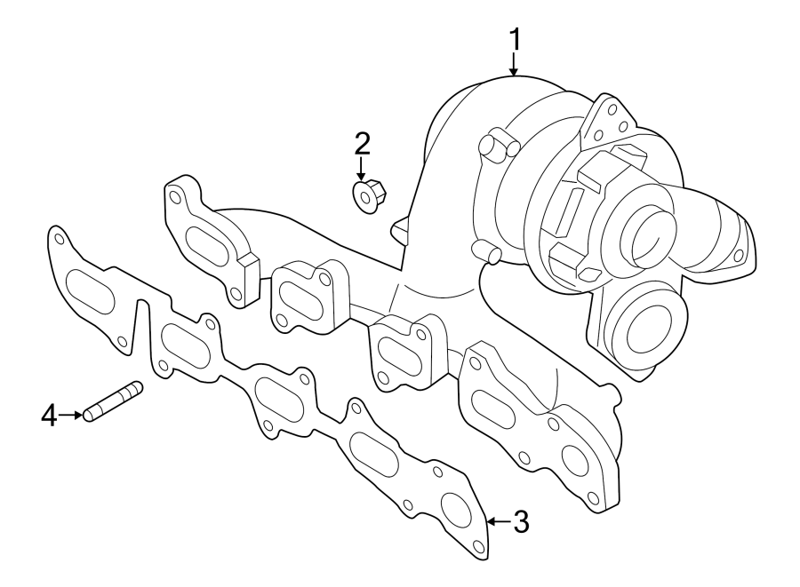 Volkswagen Passat Exhaust Manifold Stud. Turbocharger Stud