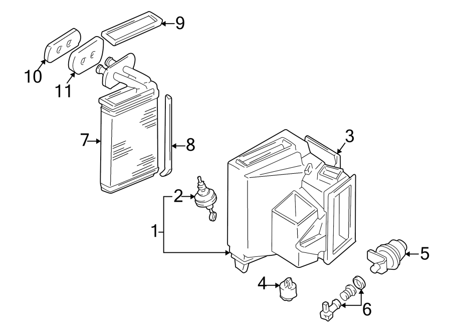 2002 Volkswagen EuroVan Hvac air adjustment control motor