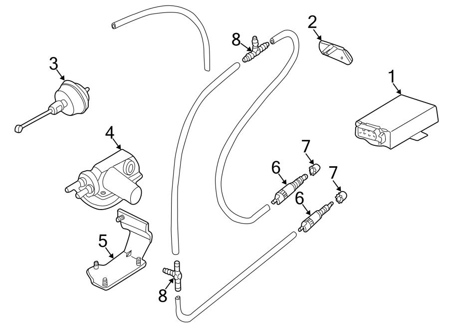 2001 Volkswagen EuroVan Deactivator switch. Vacuum control
