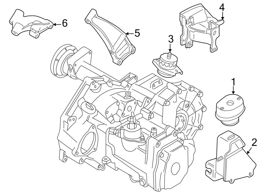 1993 Volkswagen Rear bracket bracket. Manual trans. Engine