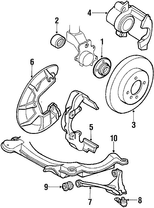 1987 Volkswagen Wheel Bearing (Front). Suspension