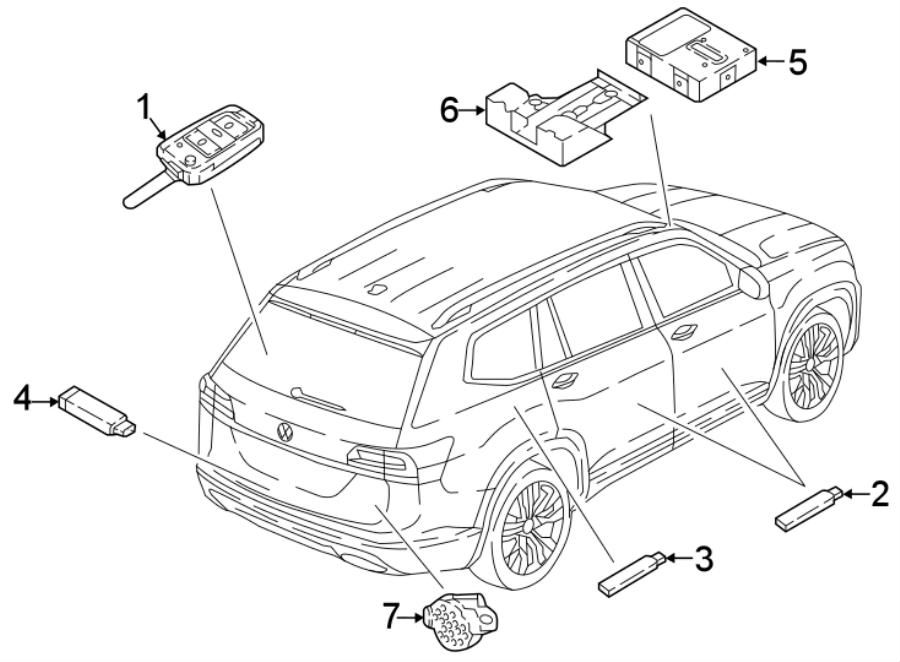 2018 Volkswagen Atlas Keyless Entry Transmitter