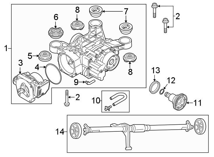 Volkswagen Tiguan S. Part included with differential
