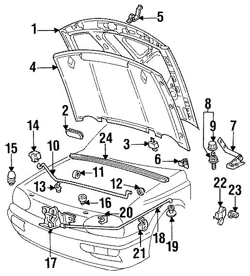 Volkswagen Jetta Hood. Oem, group, components, body