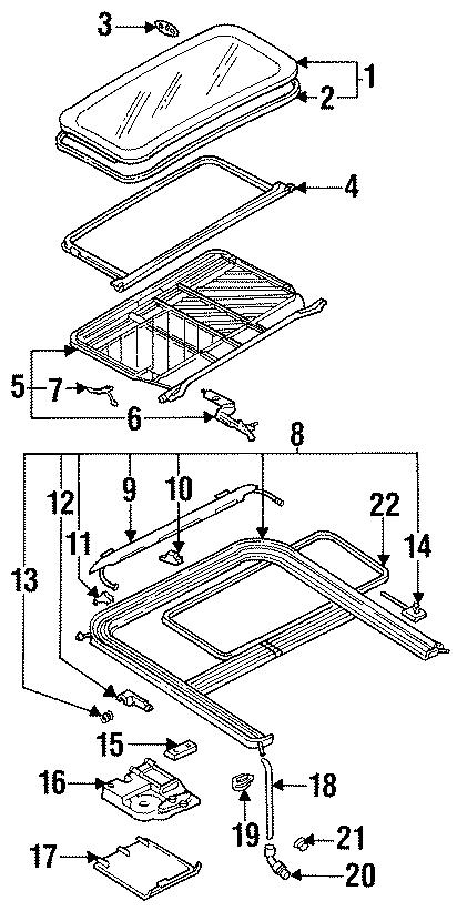 1993 Volkswagen Jetta Slide panel gasket. Weatherstrip
