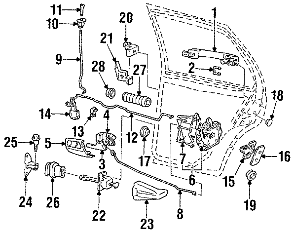 1994 Volkswagen Door Lock Actuator Motor. VIN, Doesn