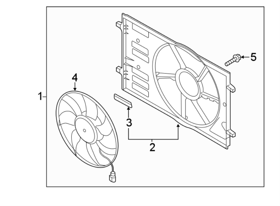 2018 Volkswagen Alltrack Engine Cooling Fan Assembly