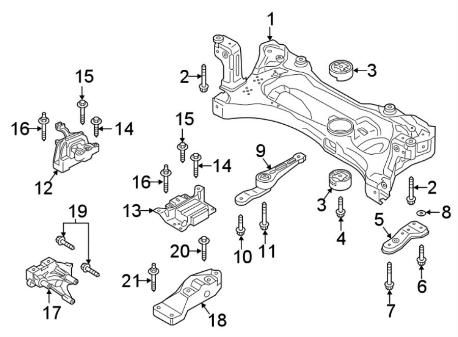 Volkswagen Golf TDI SEL Engine. Cradle. Bushing. Mount