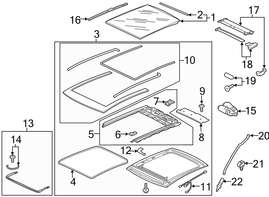 Volkswagen Golf Sunroof Guide Rail (Front). FROM 03/01