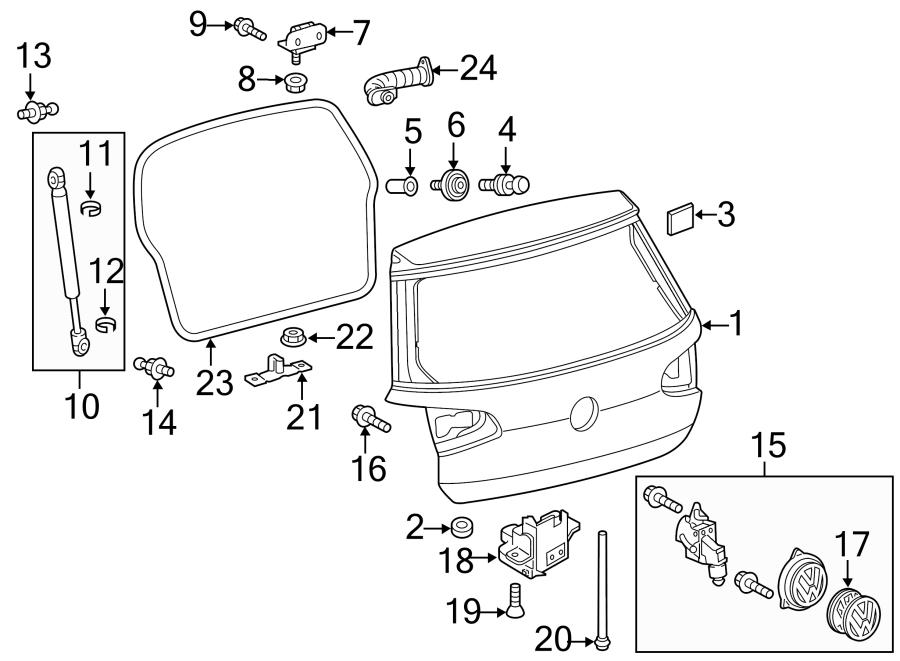 Volkswagen Golf Drain tube. HOSE. GATE, Camera, LIFT