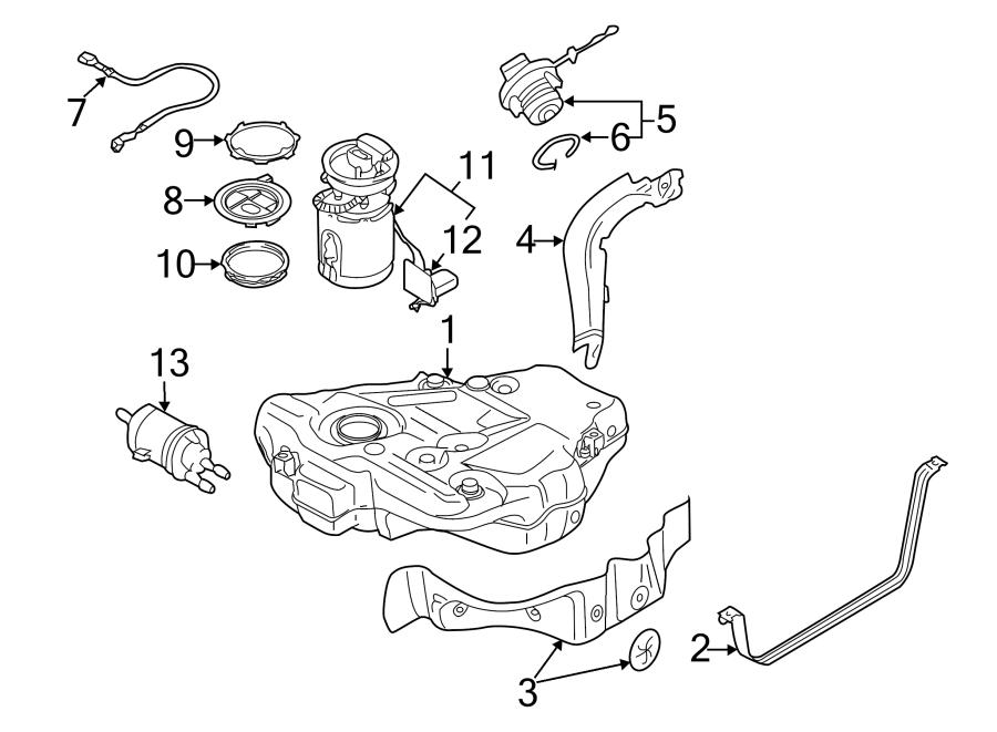 Volkswagen Golf Shield. (Upper). LITER, DIESEL, GAS