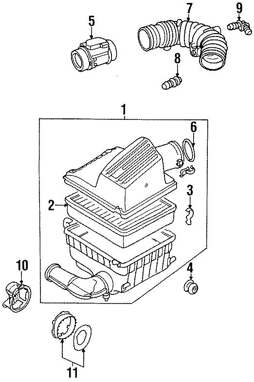 Volkswagen Jetta 1.9L DIESEL Automatic Air filter