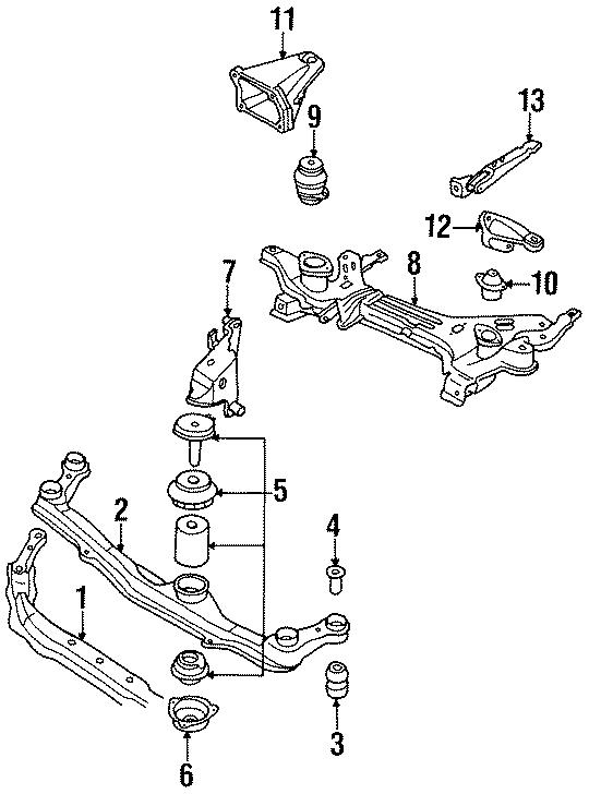 Volkswagen Golf Transmission support. 2.0 liter. 2.8 liter