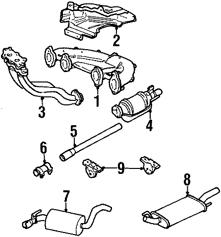 Volkswagen Golf Bracket. Muffler. Hanger. (Upper). Exhaust