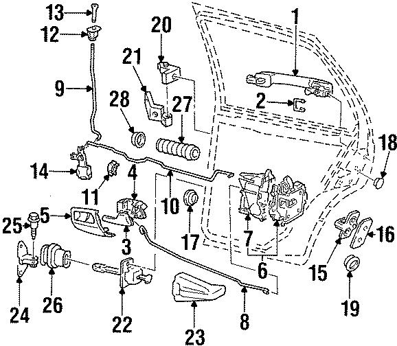 1994 Volkswagen Door Lock Actuator Motor. Locks, Chassis