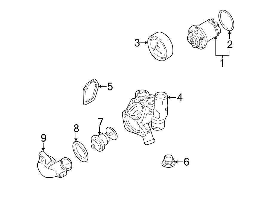 Volkswagen Golf Engine Coolant Thermostat Housing