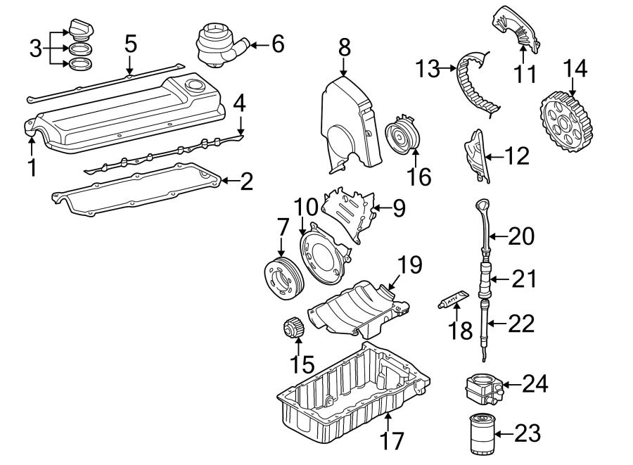 2001 Volkswagen Engine Timing Belt Tensioner. IDLER PULLEY