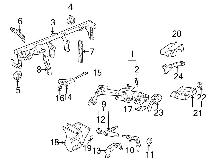 Volkswagen GTI Lock. Ignition. Housing. Steering. Column