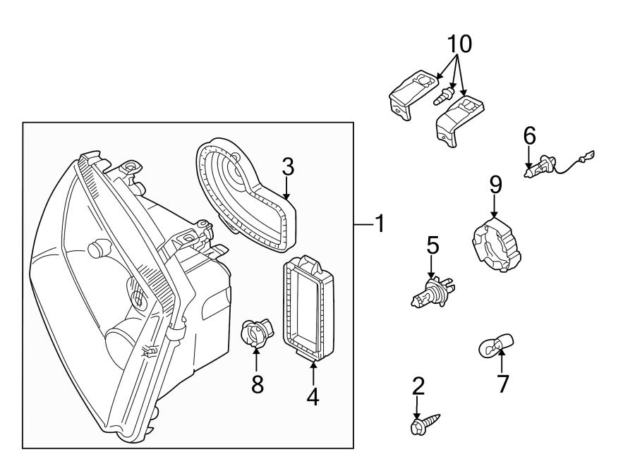 2000 Volkswagen Jetta Headlight Retaining Ring (Lower