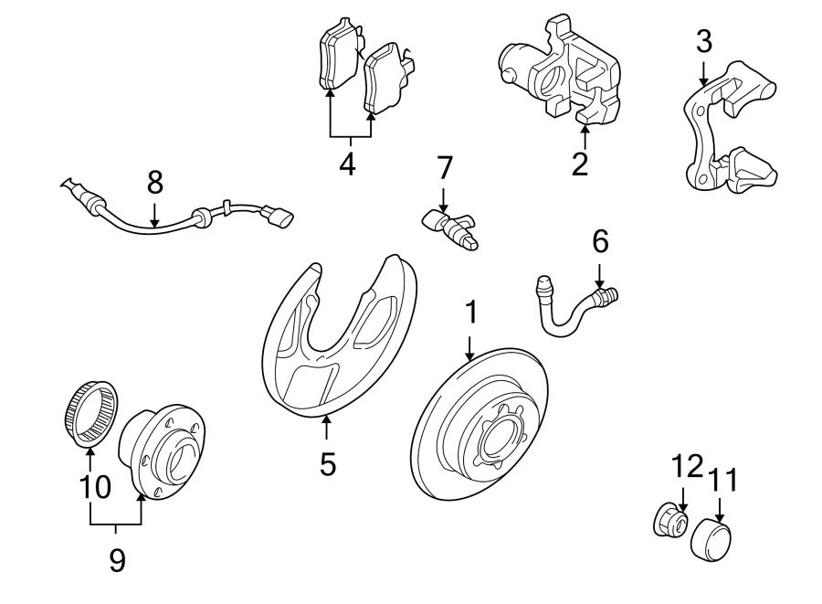 2005 Volkswagen Jetta GLI Wheel Bearing and Hub Assembly