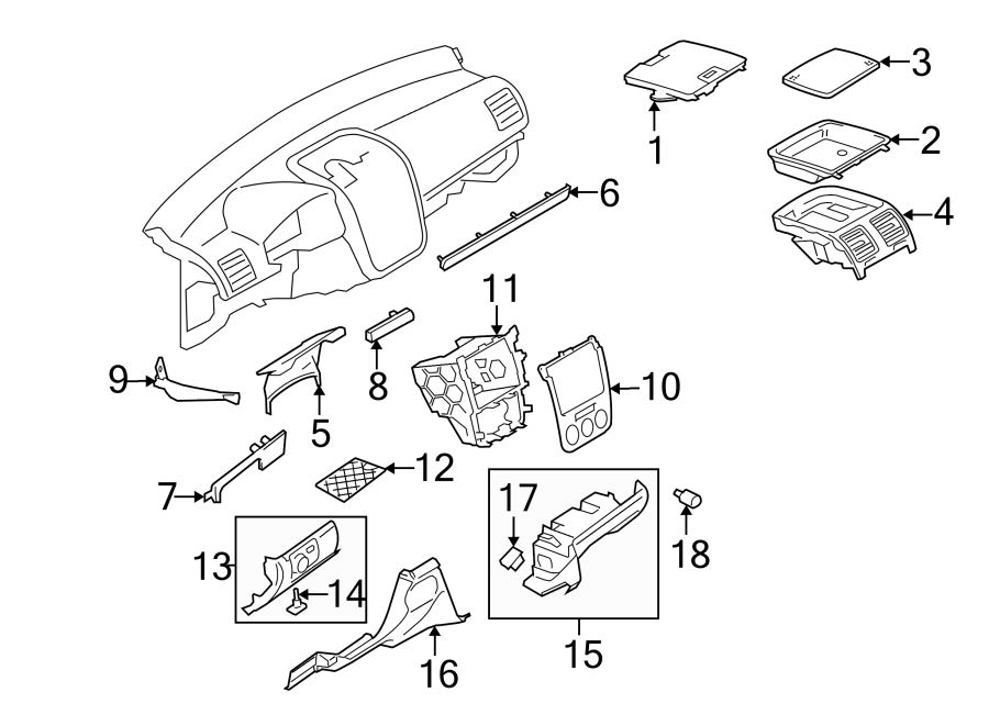 Volkswagen Jetta Instrument Panel Trim Panel (Front