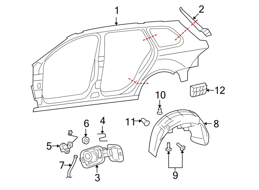 2011 Volkswagen Tiguan S Fuel Filler Door Lock Actuator