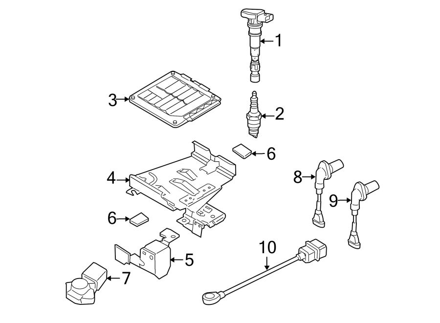 2008 Volkswagen R32 Engine Control Module Bracket (Lower