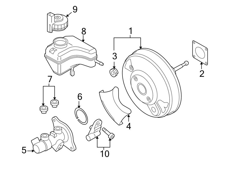 2011 Volkswagen Eos Komfort Brake Master Cylinder