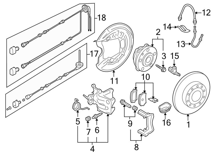 Volkswagen Jetta Disc Brake Caliper Bracket. W/AWD