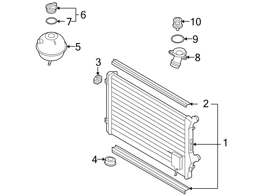 Volkswagen GTI Radiator. Engine, COOLING, Code