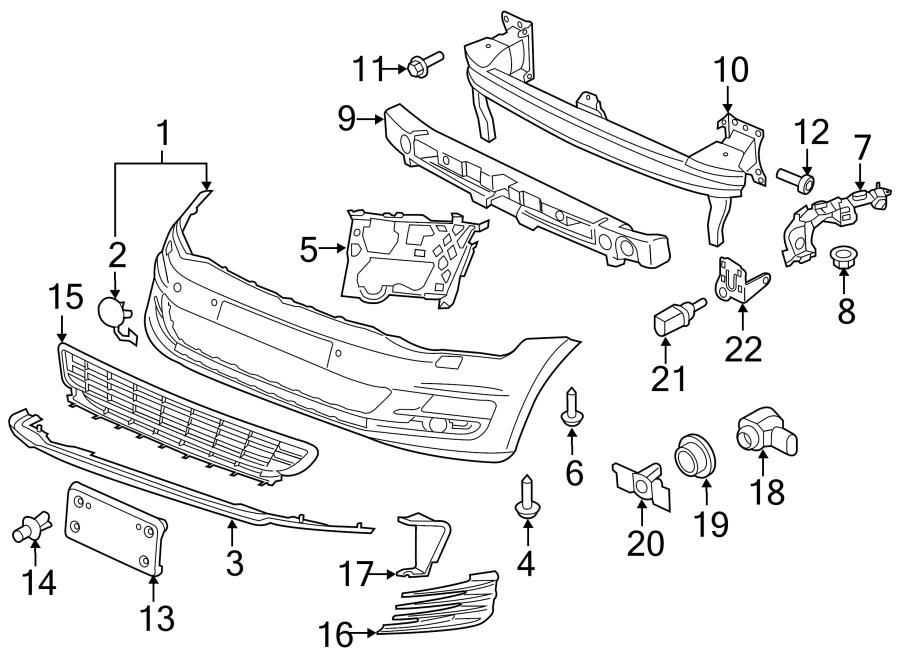 Volkswagen Golf R Base Parking Aid Sensor Bracket. 2015-17