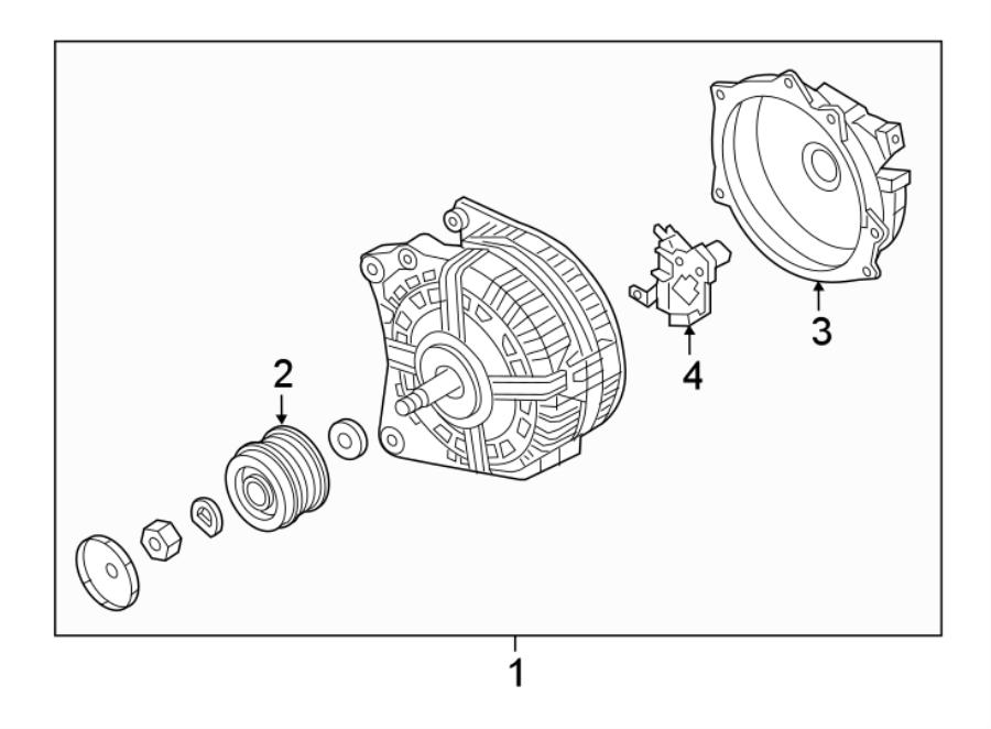 2017 Volkswagen Jetta Alternator. Battery, HYBRID, LITER