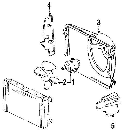 1986 Volkswagen Engine Cooling Fan Blade. Fan wheel. 280mm