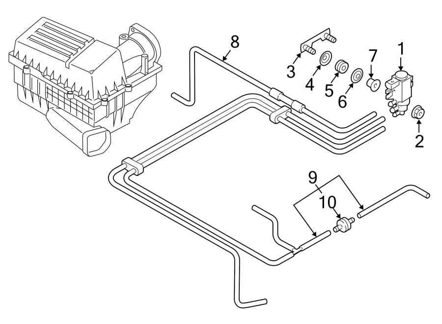 2011 Volkswagen Jetta Vacuum hose. Engine, area