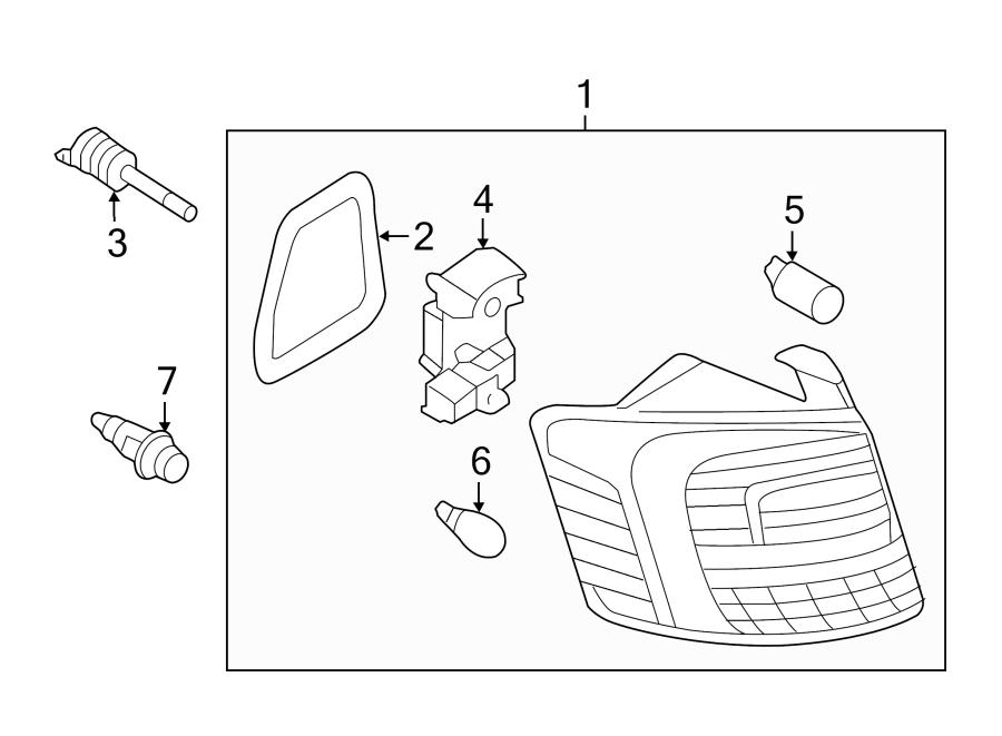 2015 Volkswagen Jetta TDI SE 2.0L DIESEL A/T Tail. Lamp