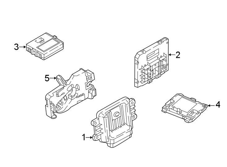 Volkswagen Tiguan Engine Control Module. CONTROL MODULES
