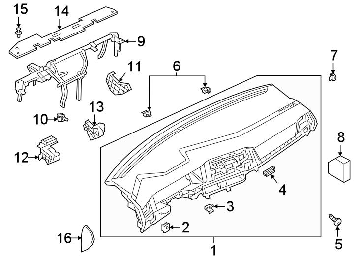Volkswagen Jetta Instrument Panel Nut. Speed, Group, Body