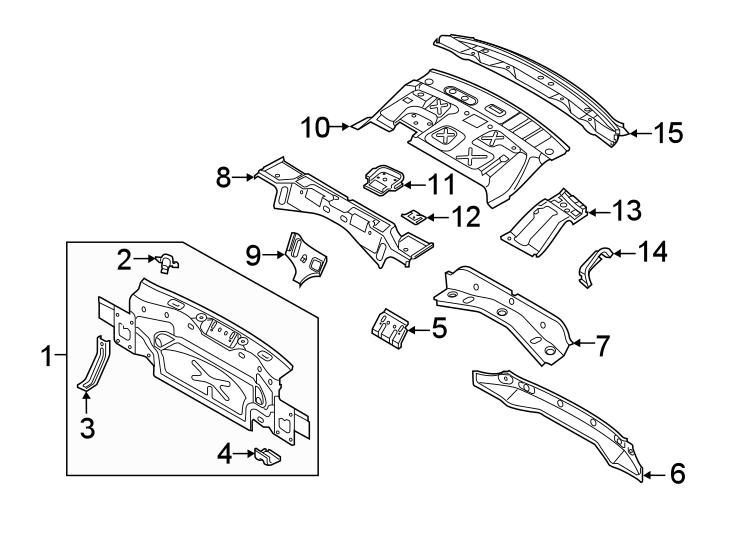 2019 Volkswagen Jetta Rear Body Panel (Rear, Upper, Lower