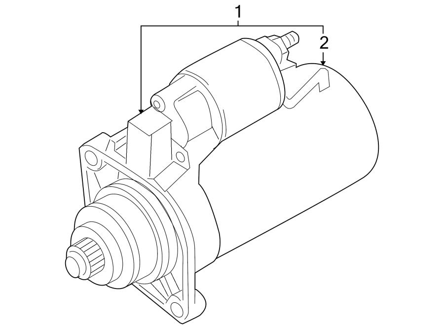 Volkswagen Passat Wagon Starter Motor. 1.1 Kw. 2.0 LITER